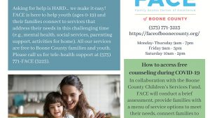 FACE of Boone County Pays for Free Counseling Services During COVID-19 Pandemic