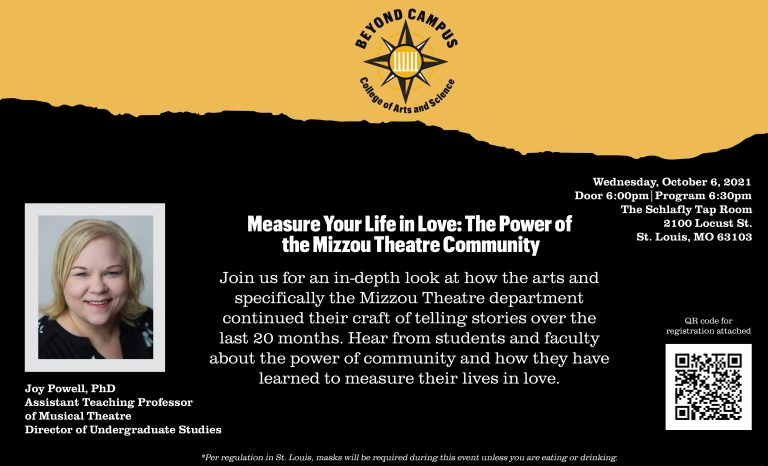 Measure Your Life in Love: The Power of the Mizzou Theatre Community