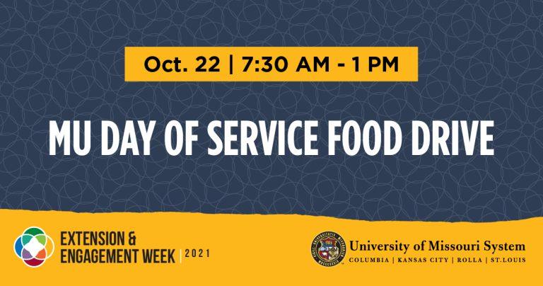 MU Day of Service Food Drive