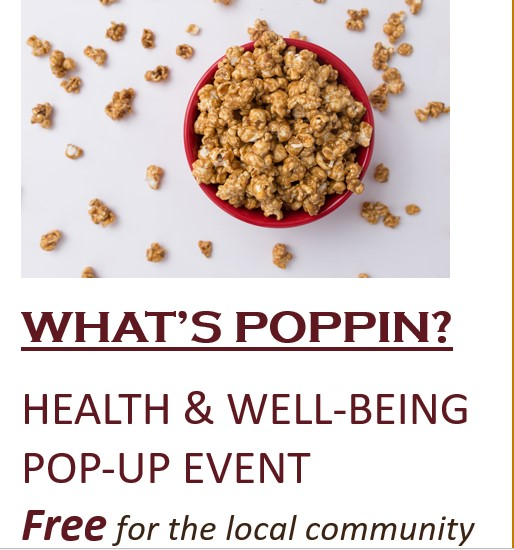 What's Poppin? Health and Well-being Pop-up event